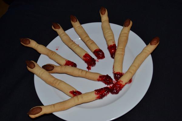 Ježibabine prsty - Halloweenske cookies